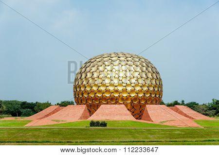 The Matrimandir At Auroville.