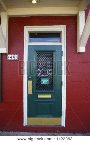 Vintage Colorful Painted Door