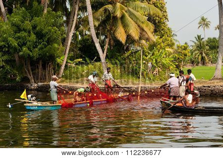 Fishing Near Alppuzha