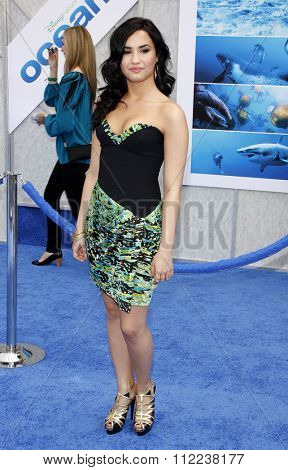 Demi Lovato at the Los Angeles Premiere of