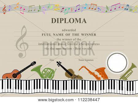 Horizontal Musical Diploma