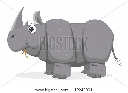 Cartoon Rhinoceros, vector