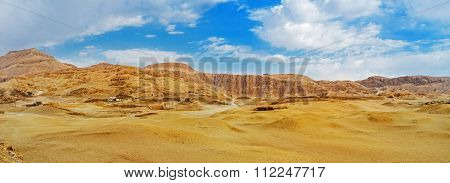 The Desert Landscape Of Luxor