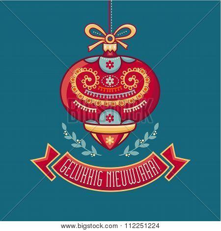 Holland Christmas card. Gelukkig nieuwjaar.
