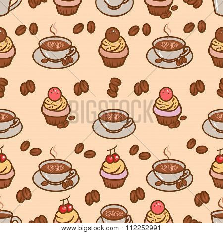 coffeeart seamless pattern