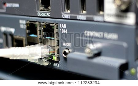 Server With Networking Cable