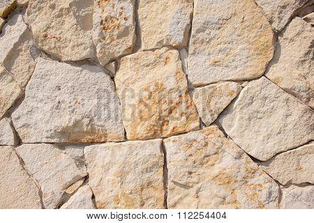 Fieldstone wall closeup