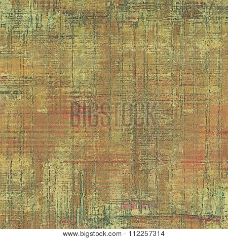 Vintage antique textured background. With different color patterns: yellow (beige); brown; green; gray