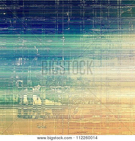Art grunge vintage textured background. With different color patterns: yellow (beige); brown; blue; cyan
