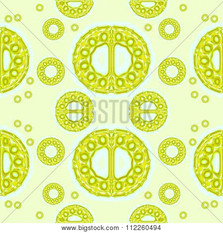 Seamless ornaments lime green