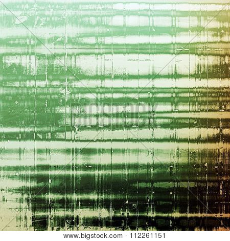 Old scratched retro-style background. With different color patterns: brown; green; white; black