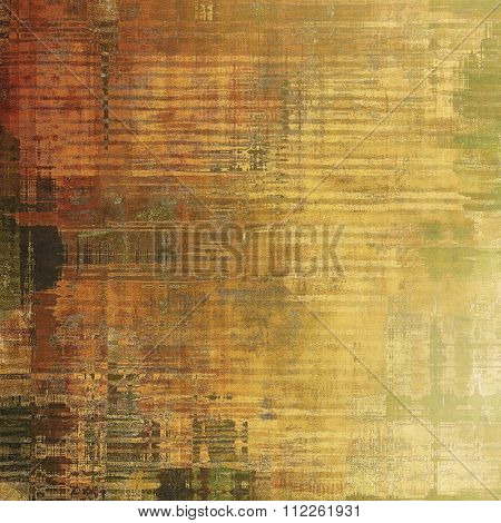 Abstract textured background designed in grunge style. With different color patterns: yellow (beige); brown; green; gray