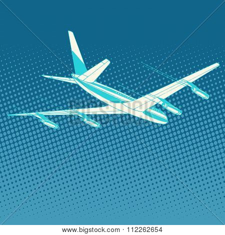 airplane flight travel tourism