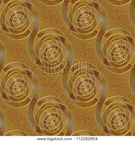 Seamless spiral pattern gold silver diagonal