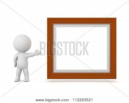3D Character Showing Decorated Diploma Frame