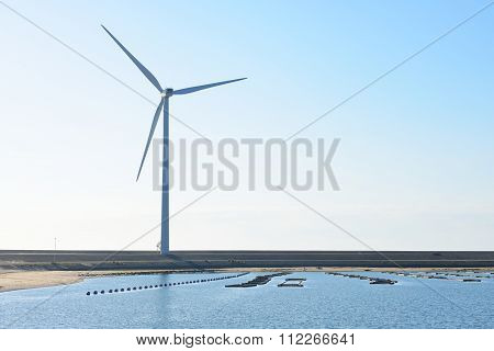 Wind Turbines In Zeeland, Netherlands