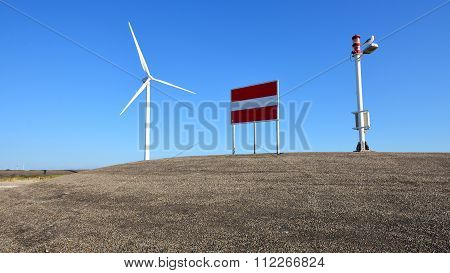 Wind Turbine In Zeeland, Netherlands