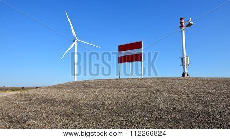 Wind Turbine In Zeeland, Netherlands