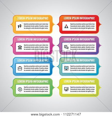 Infographic business concept - colored vector banners. Infographic template. Design elements.