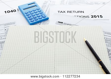 Tax Return 2015 With Notebook
