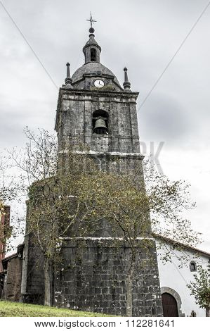 Church Steeple Of Elduain