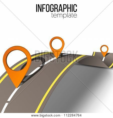 Road with pin pointer