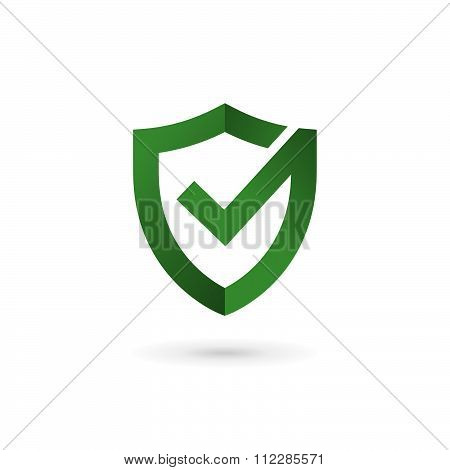 Shield Check Mark Logo Icon Design Template Elements