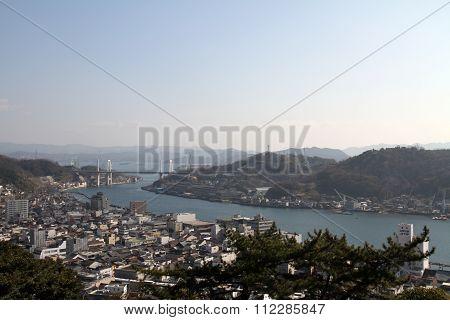 Landscape of Onomichi city in Hiroshima Japan