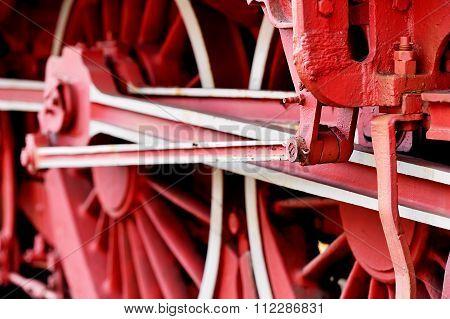 Old Train Driving Wheel