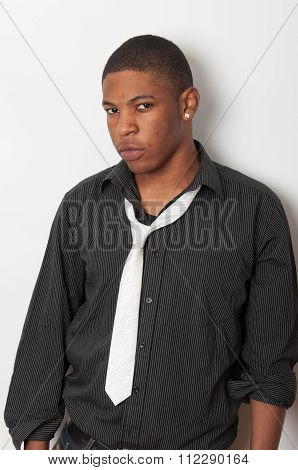 Close Up Portrait Of A Handsome Young African American
