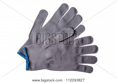 Working gloves, isolated on a white