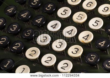 Number 3 of a calculator keyboard Vintage
