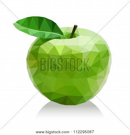 Polygon green apple