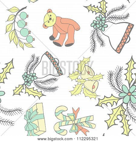 new year hand drawn pattern