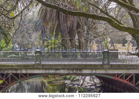 Park Of La Plata City In Buenos Aires Argentina
