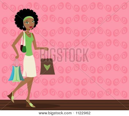 Shopper afroamericana