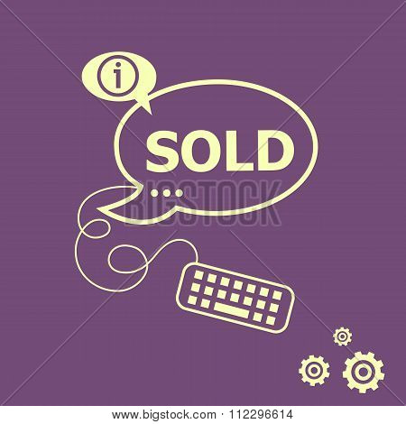 Sold Message And Keyboard Design Elements