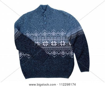 Knitted Sweater With Snowflake
