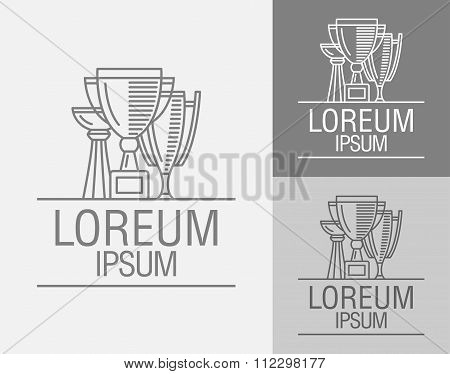 Vector Sign Template. Cup Winner Logo.