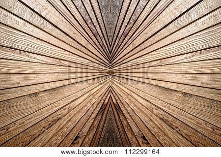 Symmetry And Perspective  Wooden Pattern.abstract Background.
