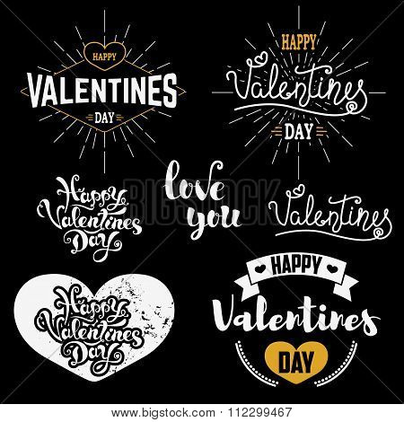 Valentines Day Badges Set