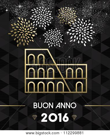 New Year 2016 Rome Colosseum Travel Gold