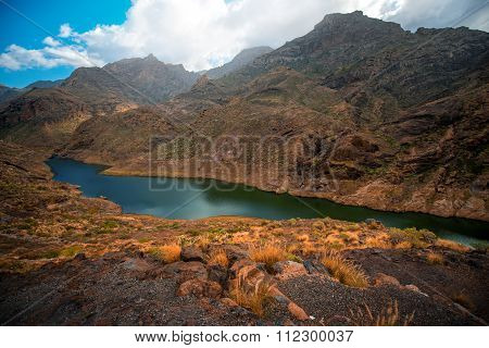 Mountains on western part of Gran Canaria island
