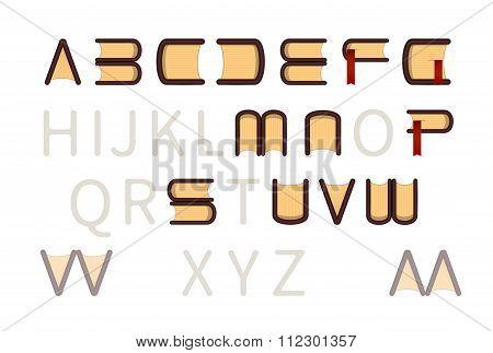 Book Store Logo ABC type font