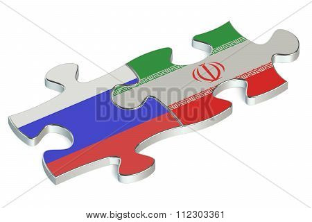 Iran And Russia Puzzles From Flags