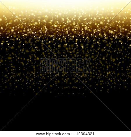 Golden Background With Gradient Mesh, Vector Illustration