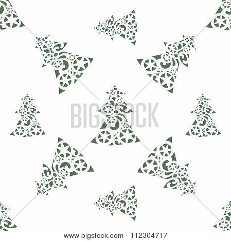 vector background of Christmas trees