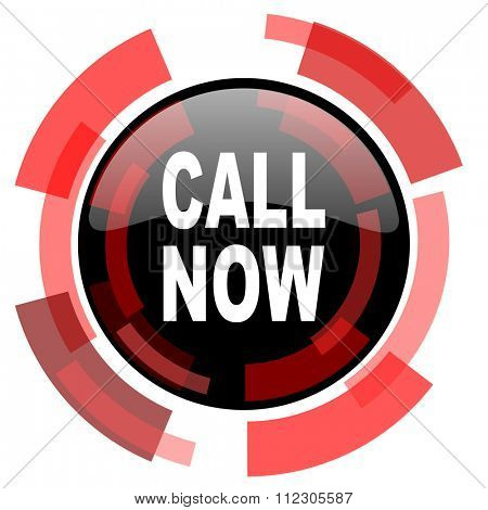 call now red modern web icon