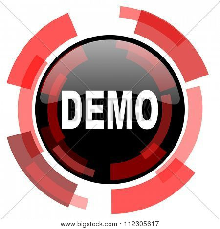 demo red modern web icon