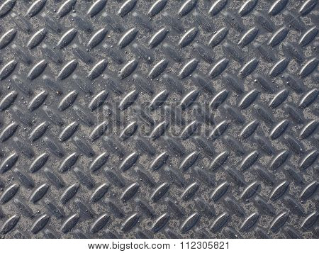 Grey Steel Diamond Plate Background